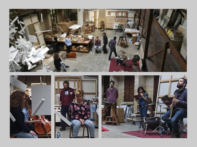 free improvisation performance antonio jesus sanchez lorena izquierdo sara galan juan dahmen julian roman merche garrido